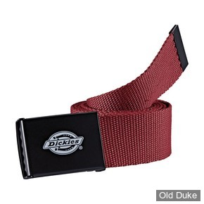 CEINTURE TISSUS - DICKIES - ORCUTT BELT - COULEUR : MAROON - TAILLE : 120CM