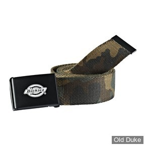 CEINTURE TISSUS - DICKIES - ORCUTT BELT - COULEUR CAMOUFLAGE - TAILLE : 120CM