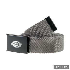 CEINTURE TISSUS - DICKIES - ORCUTT BELT - COULEUR CHARCOAL / GRIS - TAILLE : 120CM