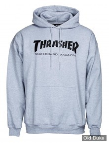 SWEAT SHIRT A CAPUCHE - THRASHER MAGAZINE - Thrasher Hoody	Skate Mag - GRIS - TAILLE : M