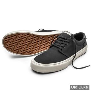 SKATE SHOES - STRAYE - FAIRFAX - BLACK/BONES CANVAS - TAILLE : 43