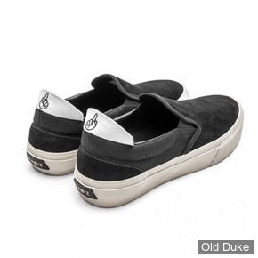 SKATE SHOES - STRAYE - VENTURA - BLACK / BONE SUEDE - TAILLE : 46