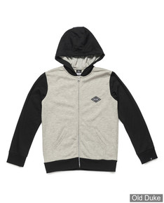 SWEAT A CAPUCHE ZIPPE - RIP CURL - BI COLOR HOODED ZIP FLEECE - CEMENT MARLE - TAILLE : 16 ANS