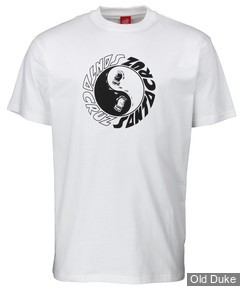 TEE-SHIRT - SANTA CRUZ - SS Tee Scream Ying Yang - WHITE - TAILLE : M