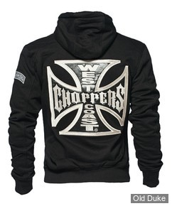 SWEAT SHIRT ZIPPE A CAPUCHE - WEST COAST CHOPPERS - WCC CROSS PANEL ZIP UP HOODIE - COULEUR : NOIR