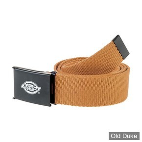 CEINTURE TISSUS - DICKIES - ORCUTT BELT - COULEUR BROWN DUCK / BRUN CLAIR - TAILLE : 120CM