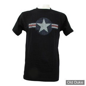 TEE-SHIRT - FOSTEX - AIR FORCE STAR & BARS - NOIR - TAILLE : S