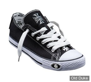 CHAUSSURES - WEST COAST CHOPPERS - BASKETS - WARRIOR LOW TOPS  - NOIR / BLANC - TAILLE : 36