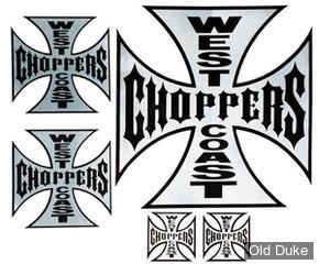 AUTOCOLLANTS WEST COAST CHOPPERS - PLANCHE DE 5 - Stickerpack OG Cross