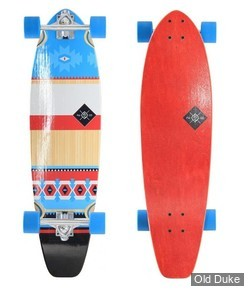 "SKATEBOARD - CRUISER - 9.25"" - CHILLIN' SERIES - MOHAVE 34"" - RED - FLYING WHEELS"