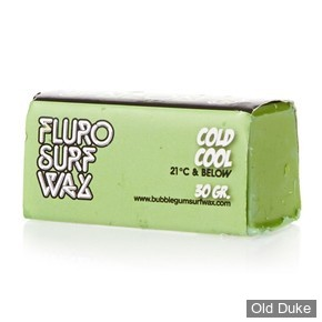 TOP COAT / SURF WAX - COOL - TEMPERATURE : 21° OU MOINS - BUBBLE GUM - NEON SURF WAX - COLD COOL - COULEUR : VERT