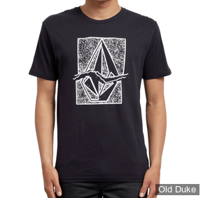 TEE-SHIRT - VOLCOM - RIP STONE BSC SS - BLACK - TAILLE : M