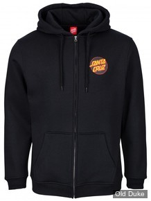 SWEAT SHIRT ZIPPE A CAPUCHE - SANTA CRUZ - DOT ZIP HOOD - BLACK - TAILLE :M