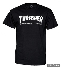 TEE-SHIRT THRASHER MAGAZINE - SKATE MAG - NOIR - TAILLES DISPONIBLES : S - M - L