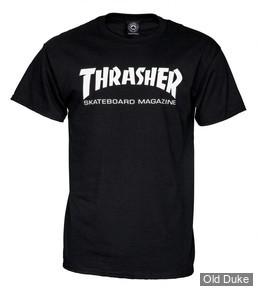 TEE-SHIRT THRASHER MAGAZINE - SKATE MAG - NOIR