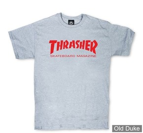 TEE-SHIRT THRASHER MAGAZINE - SKATE MAG - GRIS - TAILLE : L