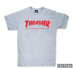 TEE-SHIRT THRASHER MAGAZINE - SKATE MAG - GRIS - TAILLE : L