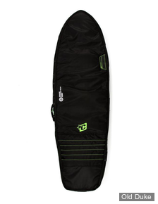 HOUSSE DE SURF - FISH / RETRO FISH - LONGUEUR : 5'10 - POUR 2 PLANCHES - CREATURES OF LEASURE - DOUBLE - BLACK / LIME