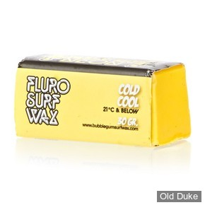 TOP COAT / SURF WAX - COOL - TEMPERATURE : 21° OU MOINS - BUBBLE GUM - NEON SURF WAX - COLD COOL - COULEUR : JAUNE