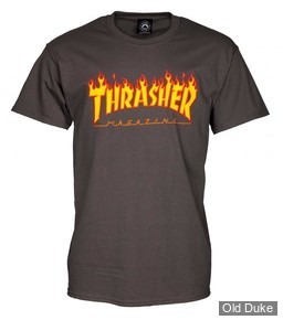 TEE-SHIRT THRASHER MAGAZINE - CHARCOAL FLAME - TAILLE : L