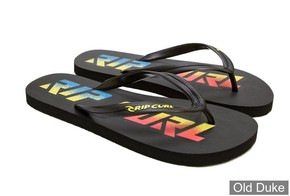 TONG - RIP CURL - LINE UP - BLACK / LIME - TAILLE : 44