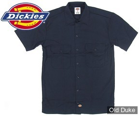 CHEMISE A MANCHES COURTE - DICKIES - SHORT SLEEVE WORK SHIRT #1574 - RELAXED FIT - COULEUR : BLEU MARINE / DARK NAVY