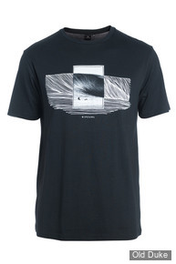 TEE-SHIRT - RIP CURL - DOUBLE FRAME SS TEE - BLACK / NOIR - TAILLE : M