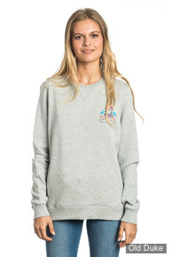 SWEAT  FEMME - RIP CURL - ACTIVE ART FLEECE - FOGGY MARLE - TAILLE : S