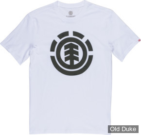 TEE-SHIRT - ELEMENT - EXPLORER LOGO SS - BLANC - TAILLE  : S
