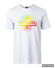 TEE-SHIRT - RIP CURL - BIG MAMA TEE - OPTICAL WHITE / BLANC - TAILLE : S
