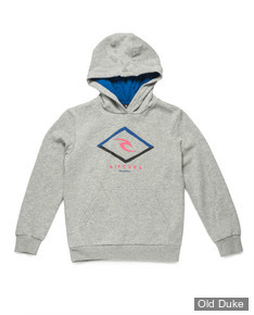 SWEAT A CAPUCHE - RIP CURL - EASY HOODED FLEECE - CEMENT MARLE - TAILLE : 14 ANS
