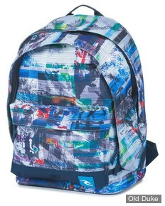 SAC A DOS - RIP CURL - OCEAN GLITCH BLUE DOUBLE DOME - BLUE