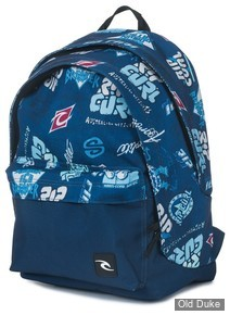 SAC A DOS - RIP CURL - HERITAGE LOGO BLUE DOUBLE DOME - BLUE