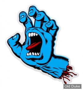 AUTOCOLLANT / DECAL - SANTA CRUZ - Screaming Hand Sticker  - COULEUR : BLEU