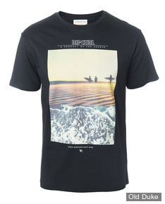 TEE-SHIRT - RIP CURL - GOOD DAY BAD DAY - BLACK / GOLD - TAILLE : S