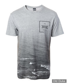 TEE-SHIRT - RIP CURL - BOTTOM TURN TEE - CEMENT MARLE - TAILLE : S