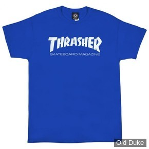 TEE-SHIRT THRASHER MAGAZINE - SKATE MAG - ROYAL BLUE - TAILLES DISPONIBLES : S - M - L - XL