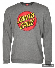 SWEAT SHIRT - SANTA CRUZ - Santa Cruz Crew Classic Dot - DARK HEATHER