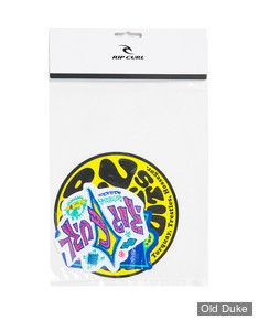 AUTOCOLLANT / DECAL - RIP CURL - RC STICKER PACK - COULEUR : JAUNE / MULTICOLOR