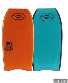 "BODYBOARD - HAUTEUR : 40"" - TAIL : CRESCENT - CORE : PE - SNIPER - ACTION SERIE - STUNT - ORANGE & BLEU"
