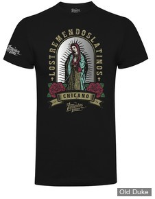 TEE-SHIRT - LOS TREMENDOS LATINOS - OUR LADY T-SHIRT - NOIR - TAILLE  : XL