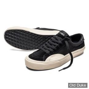 SKATE SHOES - STRAYE - LOGAN - BLACK / BONE CANVAS - TAILLE : 40