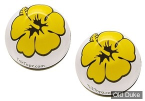 BOUCHONS DE VALVES - TRIK TOPZ VALVE STEM CAPS - FLOWER - JAUNE / YELLOW