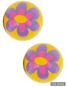 BOUCHONS DE VALVES - TRIK TOPZ VALVE STEM CAPS - FLOWER - PURPLE