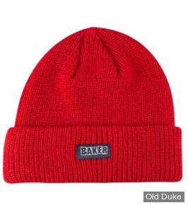 BONNET - BAKER - BRAND LOGO BEANIE - COULEUR : RED