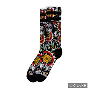 """CHAUSSETTES - AMERICAN SOCKS -  AMÉRICAINES SIGNATURE WOLF, DOUBLE RAYURES NOIRES -  TAILLE : 38-41 ,8"""" / 20.32 CM"""