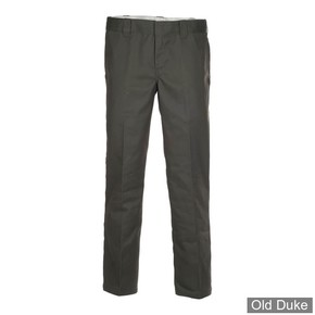 PANTALON - DICKIES - 873 - SLIM STRAIGHT WORK PANTS - OLIVE GREEN / VERT OLIVE - TAILLE : 32 / 32