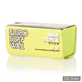 TOP COAT / SURF WAX - WARM - TEMPERATURE : 21° ET PLUS - BUBBLE GUM - NEON SURF WAX - WARM TROPICAL - COULEUR : JAUNE