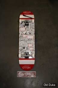 "SKATEBOARD - STREET - 8.125""/31.85"" - MONCORGEM ""HELLO MY BLAZE IS"" - OLDDUKE"