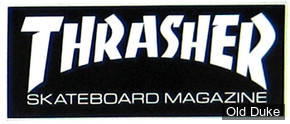 AUTOCOLLANT / DECAL - THRASHER MAGAZINE - THRASHER MAG LOGO SMALL STICKER - NOIR & BLANC